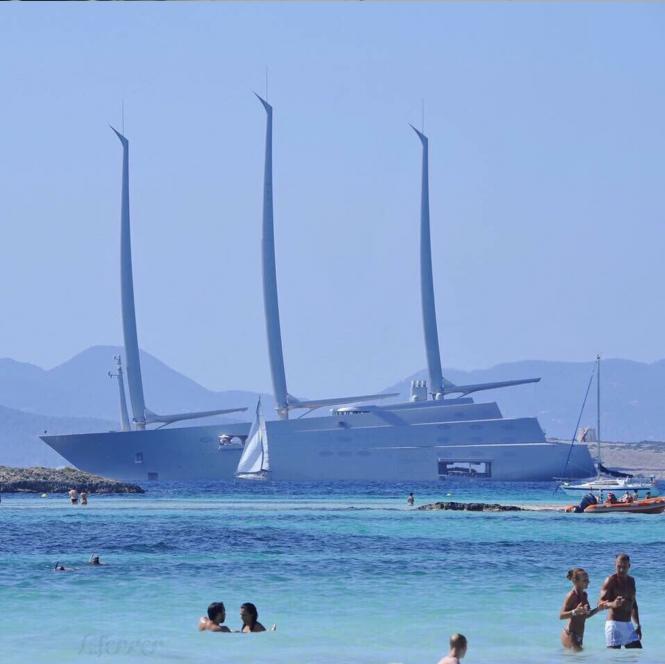 Sailing Yacht A. Photo by ortiz_aulisio Playa De Illetes, Formentera, Ibiza