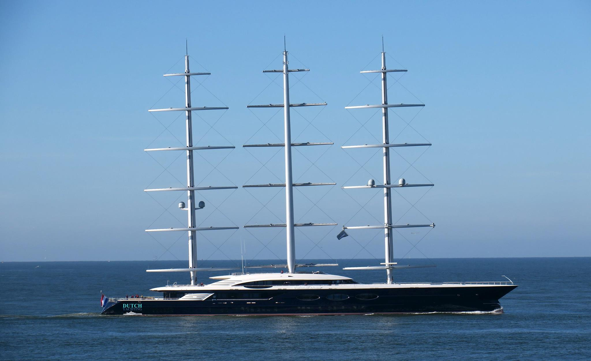 106m Sailing Yacht Black Pearl On Follow Up Sea Trials Yacht