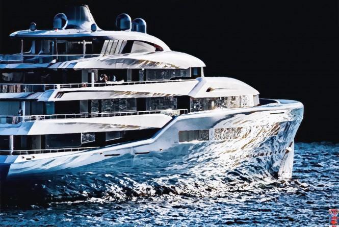 Superyacht Aviva. Photo credit superyachts gibraltar