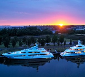 Heesen Superyachts BookEnds (ex. Project Ruya) and Home in Hellevoetsluis