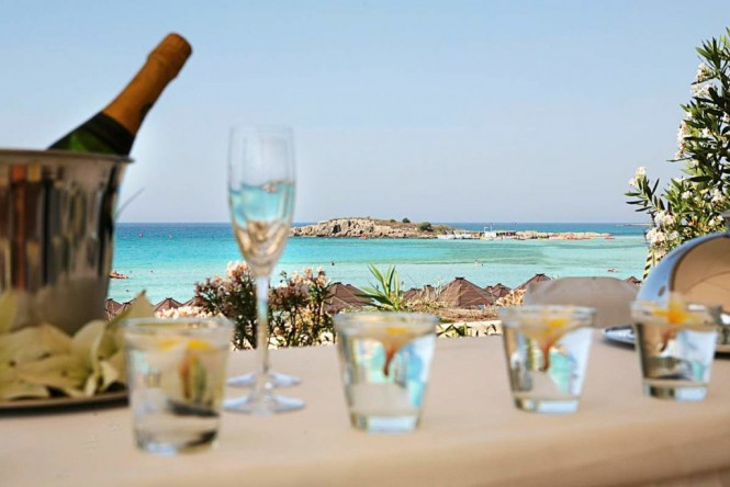 View from Nissi Beach in Agia Napa, Cyprus - Photo credit Nissi Beach Resort