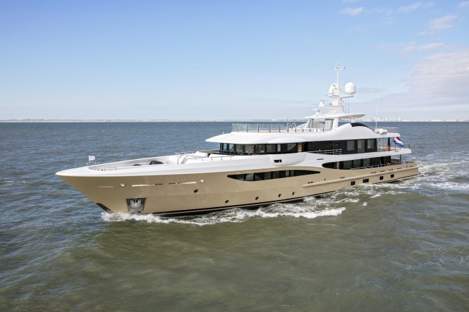 Amels Limited Edition superyacht LILI at sea trials