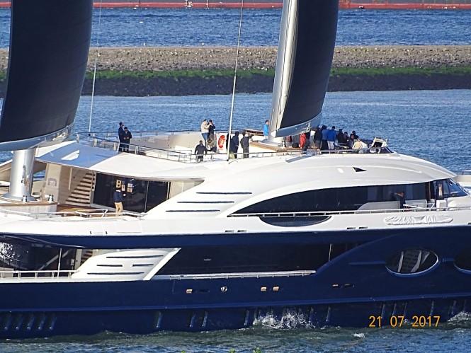 Black Pearl close up. Photo credit Marcus Slabbers via Dutch Yachting