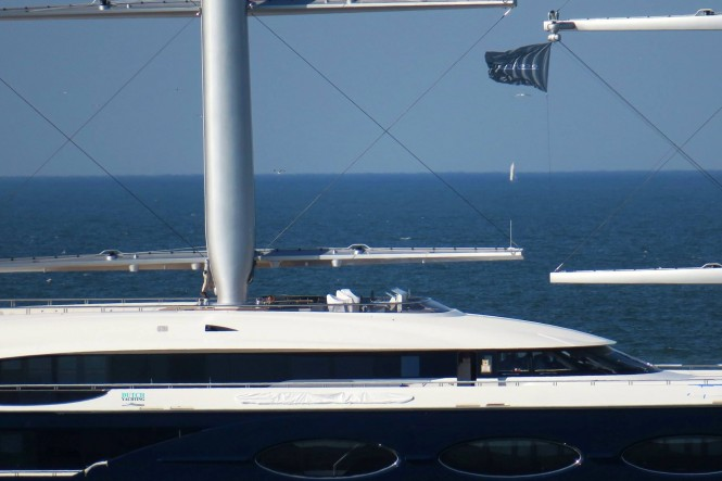 Close up - Sailing Yacht Black Pearl. Photo Credit Dutch Yachting