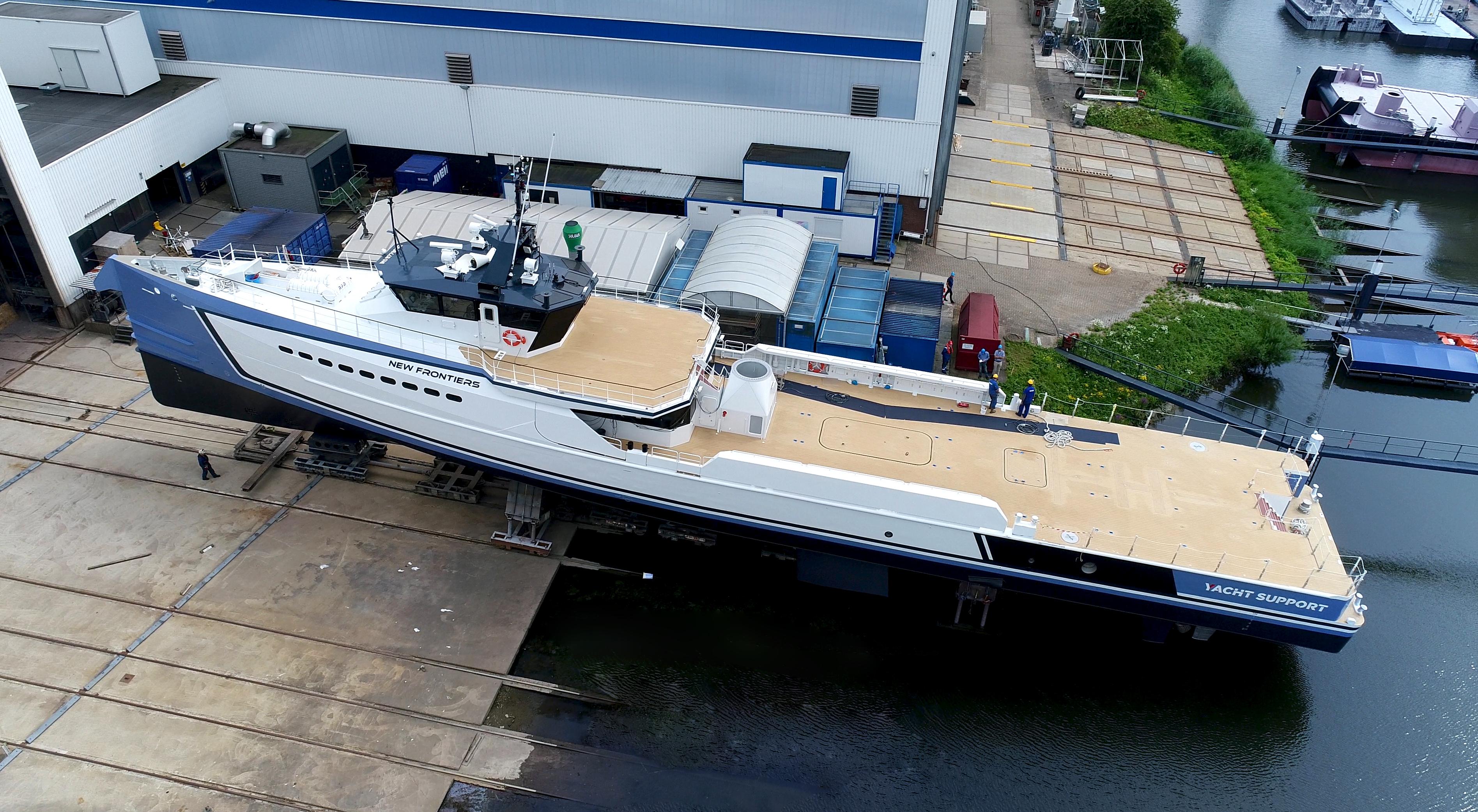 DAMEN shipyard launches NEW FRONTIERS — Yacht Charter