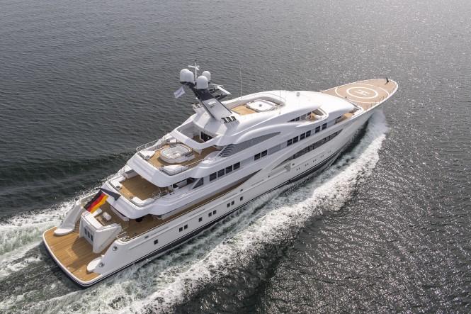 Luxury yacht ARETI - Built by Lurssen. Image credit Klaus Jordan