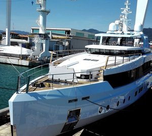 40m superyacht SAGE hits water at ADMIRAL in Italy
