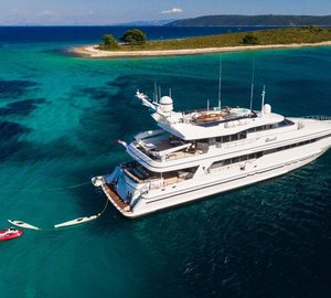 M/Y Brazil ready for charter in the Adriatic