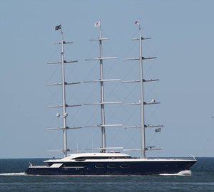 More Images of Oceanco Mega Sailing Yacht Black Pearl On Sea Trials