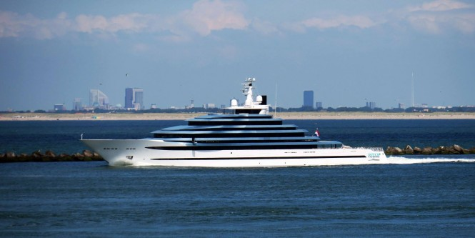Oceanco Jubilee delivered. Photo credit Dutch Yachting