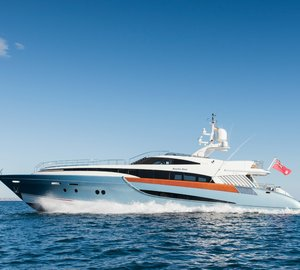 Motor yacht Benita Blue ready for charter in the Balearic Islands