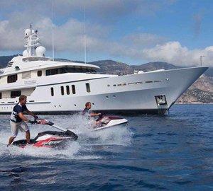Charter superyacht Hanikon in the Mediterranean this July
