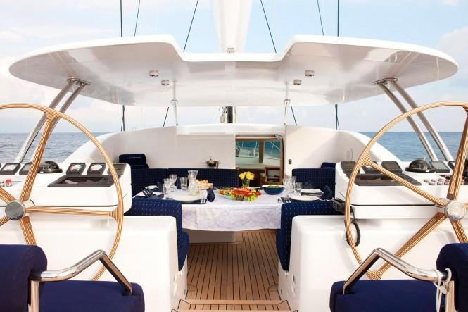 Superyacht NOSTROMO - Alfresco dining in the cockpit