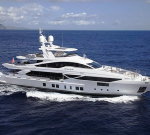 Charter brand new luxury yacht Willow in the Western Mediterranean
