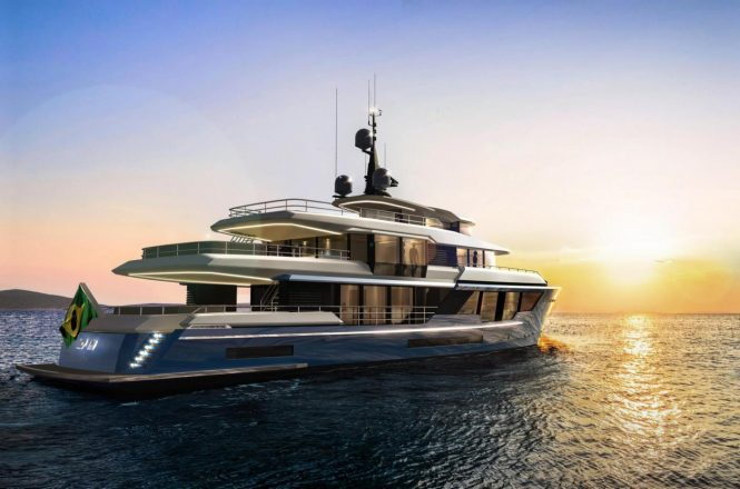 Concept design of the MCP 120 superyacht from Vripack and MCP Yachts