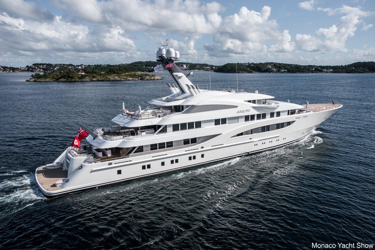 Lurssen luxury yacht ARETI. Photo credit - Tom van Oossanen