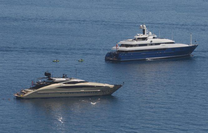 Luxury yachts HOKULANI and SARAH. Photo credit: Didier Didairbus