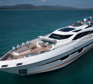 Elegant superyacht Dolce Vita available for charters in exotic Thailand