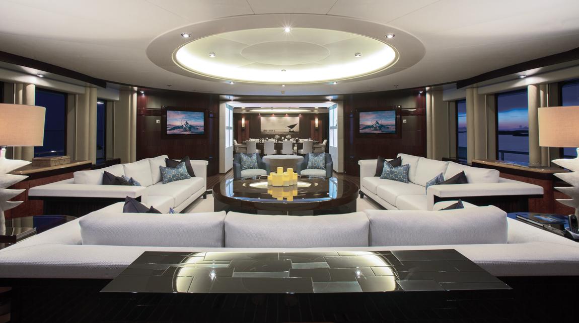 Motor yacht DREAM - Main salon and formal dining area