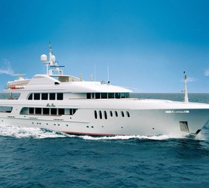 Motor yacht Mustique ready for charter in the Mediterranean