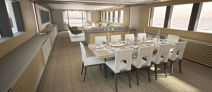 Motor yacht OCEA X47 - Formal dining area concept