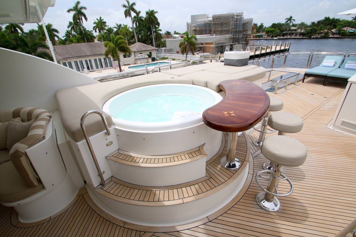 Sundeck Jacuzzi aboard M/Y EXIT STRATEGY