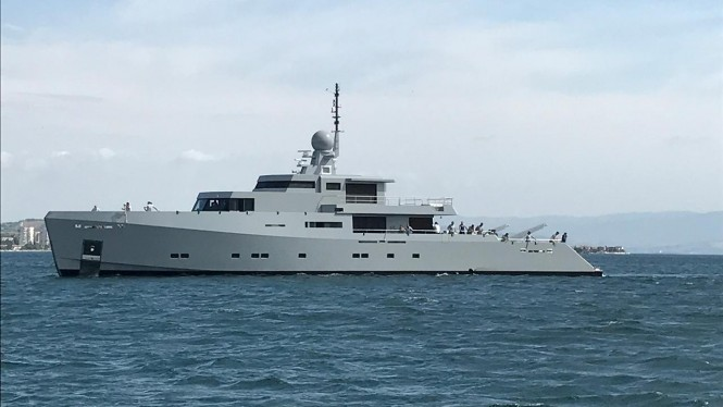 Superyacht CYCLONE has been launched by Tansu Yachts from the shipyard in Istanbul, Turkey
