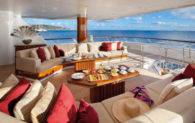 Superyacht LADY BRITT - Main deck aft