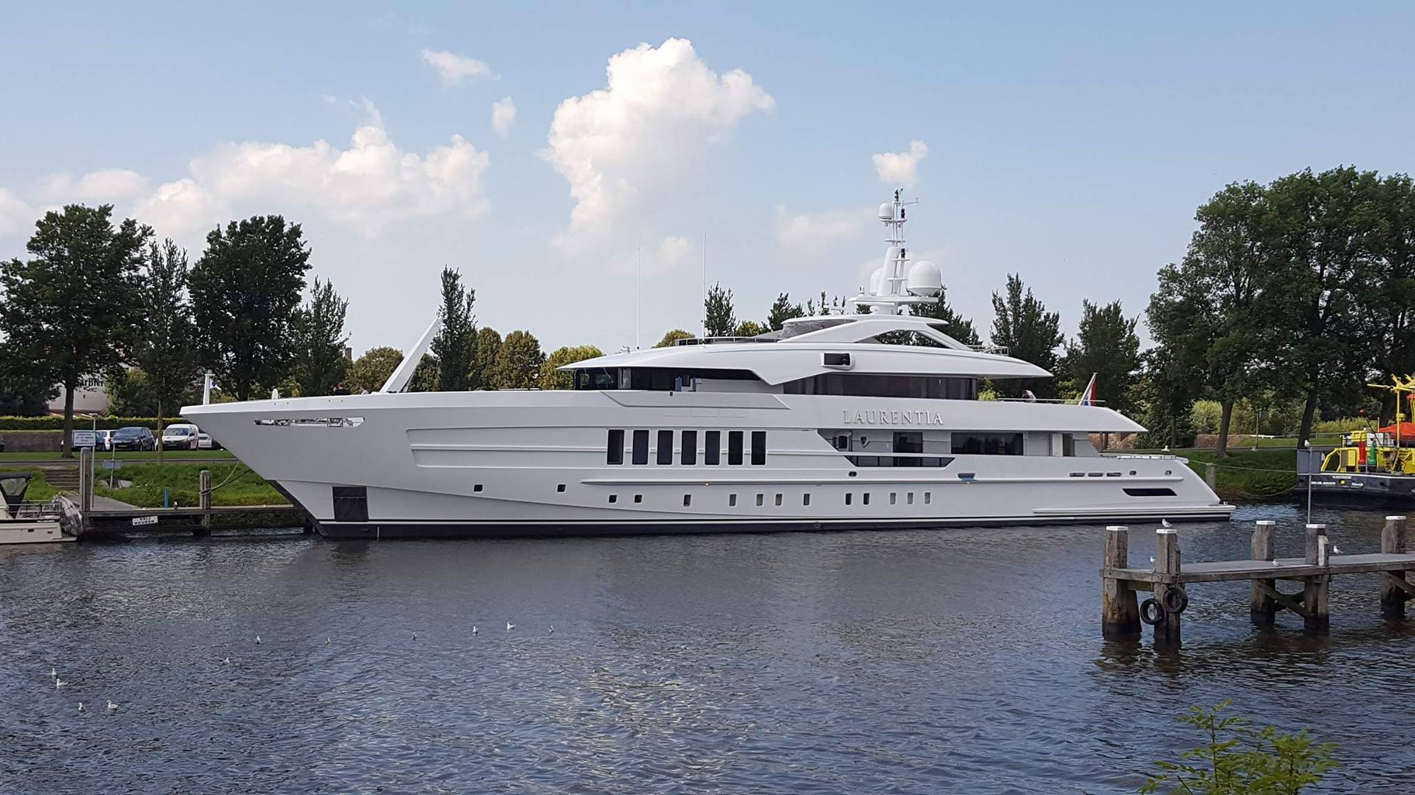 Superyacht LAURENTIA - Currently undergoing sea trials in Hellevoetsluis. Photo credit - Andre Dorst at Dutch Yachting