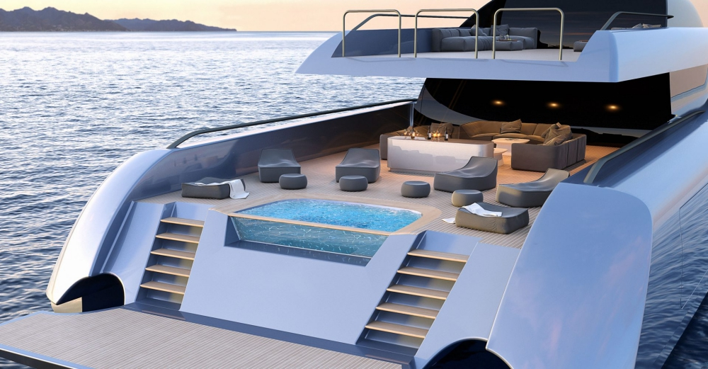 Superyacht MC155 - Main deck aft concept
