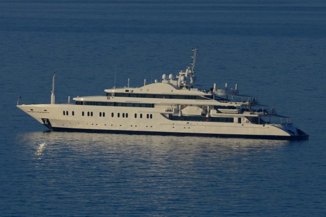 Superyacht MOONLIGHT II - Built by Neorion Shipyard. Photo credit: Didier Didairbus