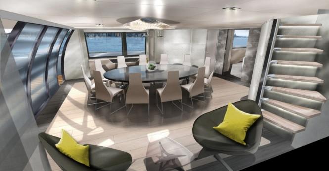 Trimaran MC155 - Formal dining area concept