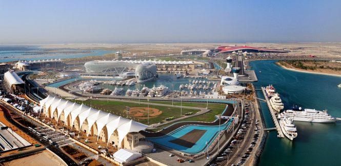 Yas Island Marina and F1 racetrack - Abu Dhabi
