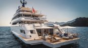 Aft view of beach club aboard luxury yacht CLOUD 9