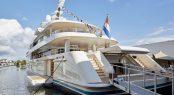 Aft view of motor yacht SAMAYA
