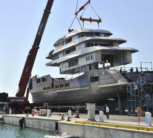 Construction update: 70m Benetti motor yacht Alkhor