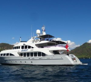 Charter superyacht Quest R in the Eastern Mediterranean this autumn