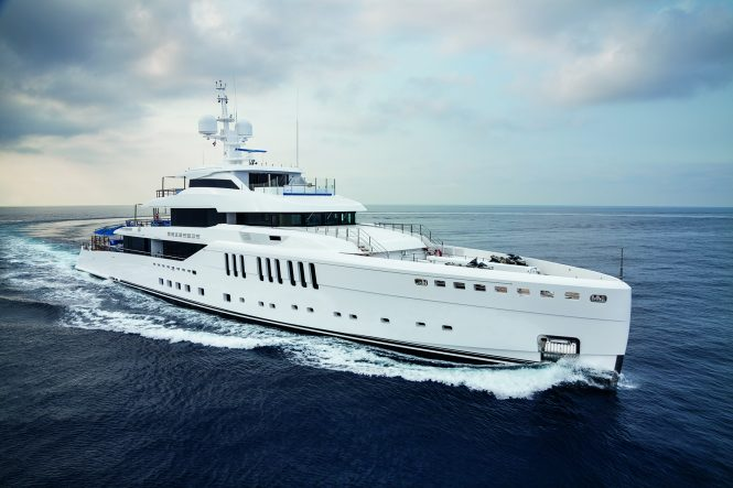 Benetti superyacht SEASENSE - On display at the Monaco Yacht Show