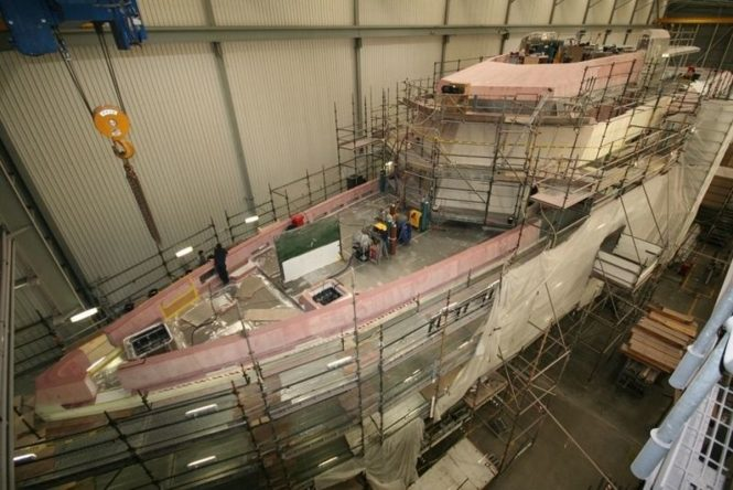 Expedition yacht SILVER LOFT under construction