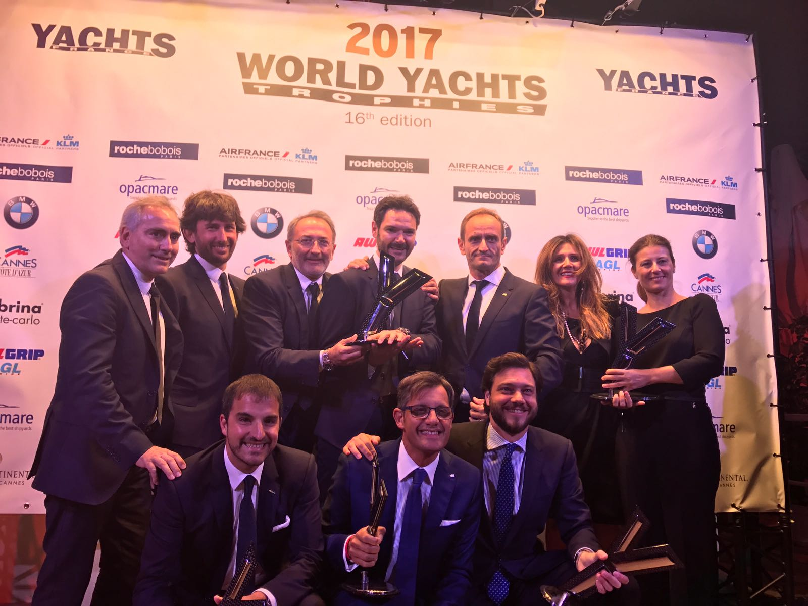 Ferretti Group won 5 awards at the World Yachts Trophies 2017, including Best Shipyard