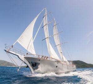 Sail through the Eastern Mediterranean aboard the stately luxury gulet Silver Moon