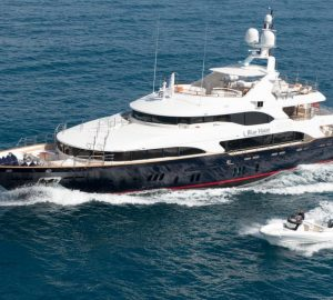 Charter superyacht Blue Vision at the Monaco Grand Prix
