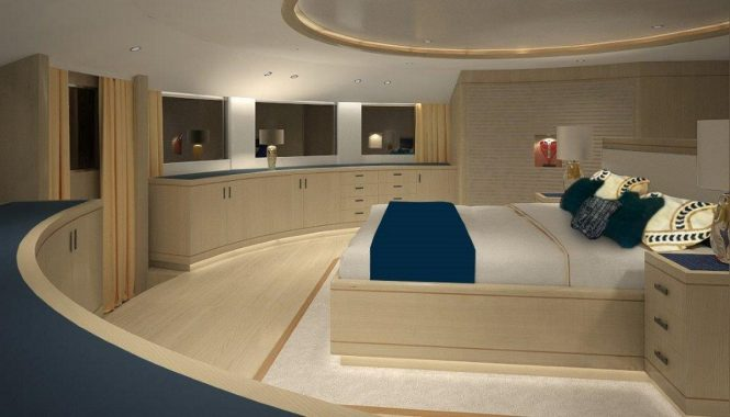 Luxury yacht BLUE VISION - Master suite