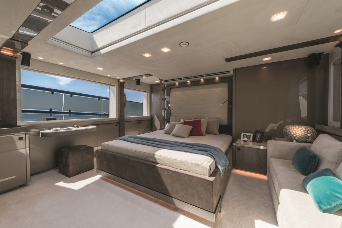 MCY 96 - Owners suite. Photo credit Monte Carlo Yachts
