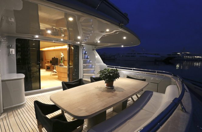 Motor yacht IF - Main deck aft alfresco dining