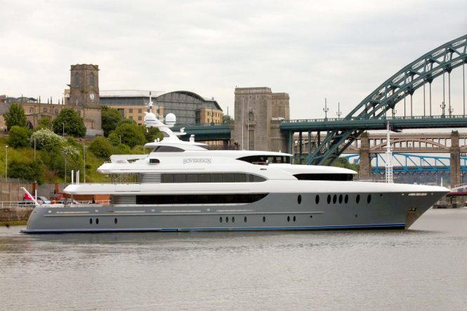 Newcastle Shipyard superyacht SOVEREIGN - Available for charter in the Caribbean and Bahamas