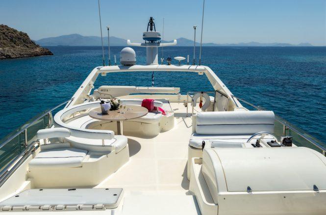 Open yacht MELI - Flybridge seating