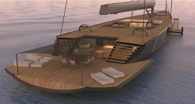 PROJECT MM78 - Aft view into Owner's suite