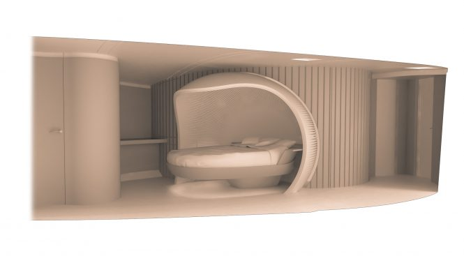 SPIRIT 111 - Owner's cabin. Image credit Spirit Yachts
