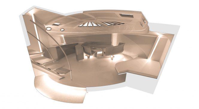SPIRIT 111 - Salon concept. Image credit Spirit Yachts